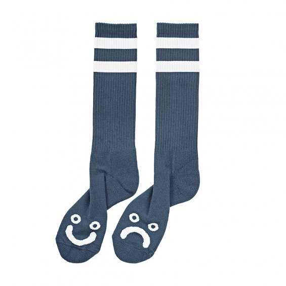 Polar Skate Happy Sad Socks, Captains Blue