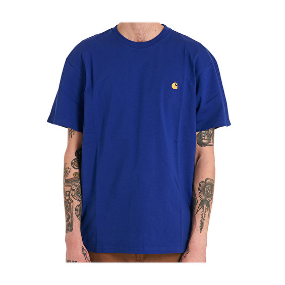Carhartt S/S Chase Tee, Submarine/Gold