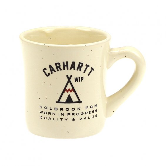 Carhartt Holbrook Diner Mug, Off White Brown Speckles
