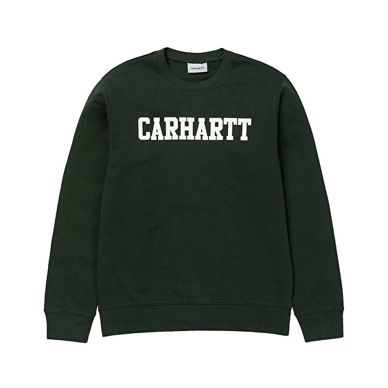 Carhartt College Sweat, Loden/White