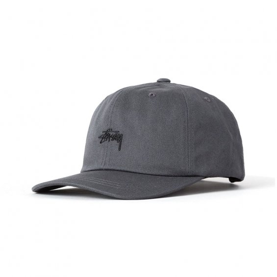 Stussy Stock Low 6-panel, Charcoal