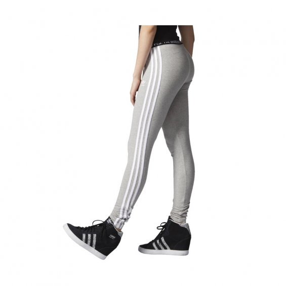 Adidas W 3-Stripes Leggings, M Grey Heather