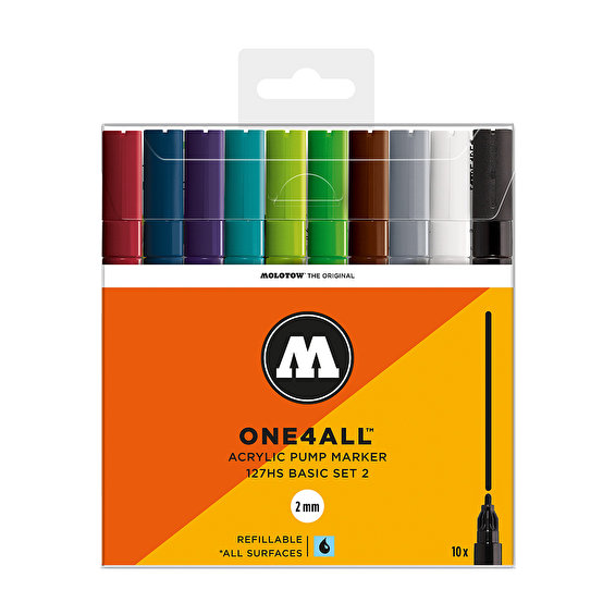Molotow ONE4ALL 127HS Basic-Set 2, 10-set