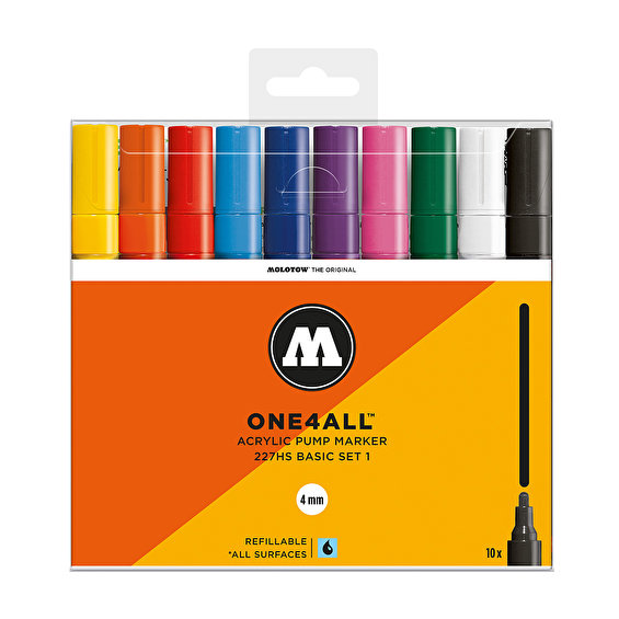 Molotow ONE4ALL 227HS Basic-Set 1, 10pcs