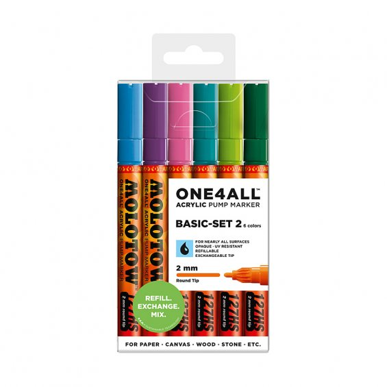 Molotow ONE4ALL 127HS Basic-Set 2, 6-set