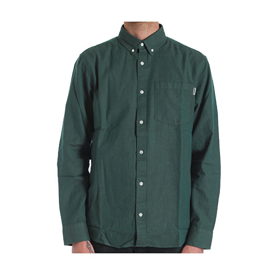 Carhartt L/S Dalton Shirt, Dark Fir-Leaf heavy rinsed