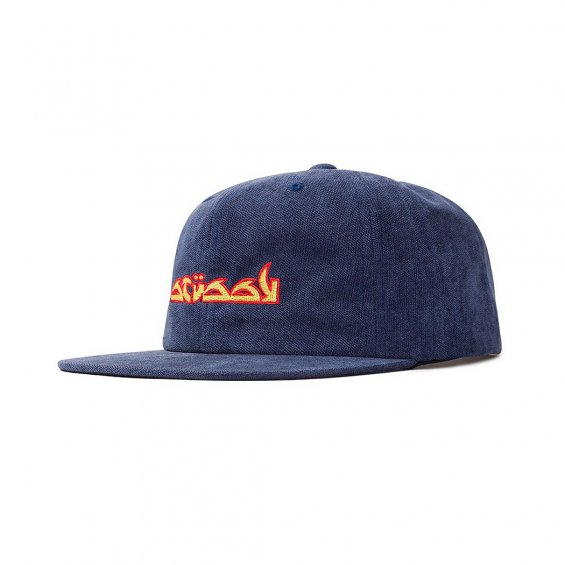 Stussy No Wale Cord Cap, Blue