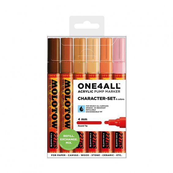 Molotow ONE4ALL 227hs Character, 6-set