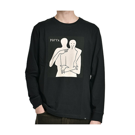 Parra plastic people long sleeve t-shirt, Black