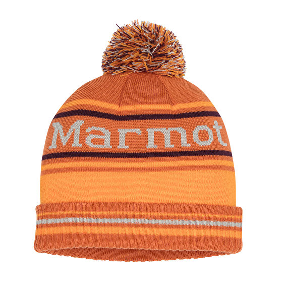Marmot Retro Pom Hat, Sunset/Ember
