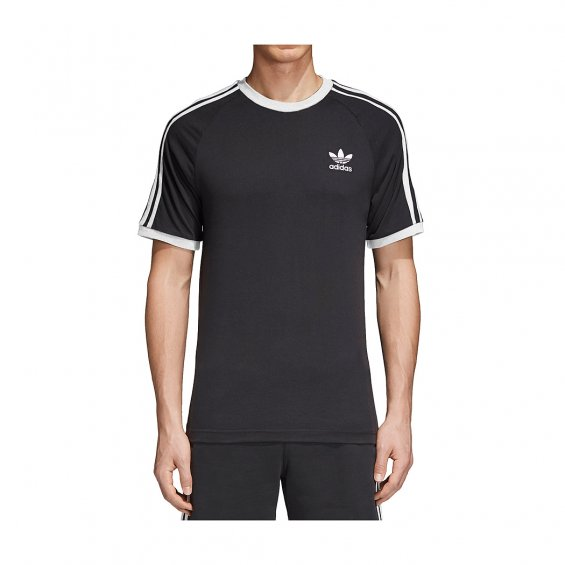 Adidas Originals 3-Stripes Tee, Black White