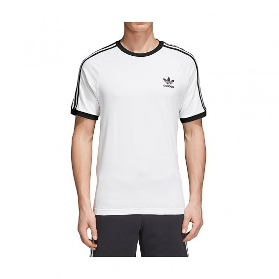 Adidas Originals 3-Stripes Tee, White Black