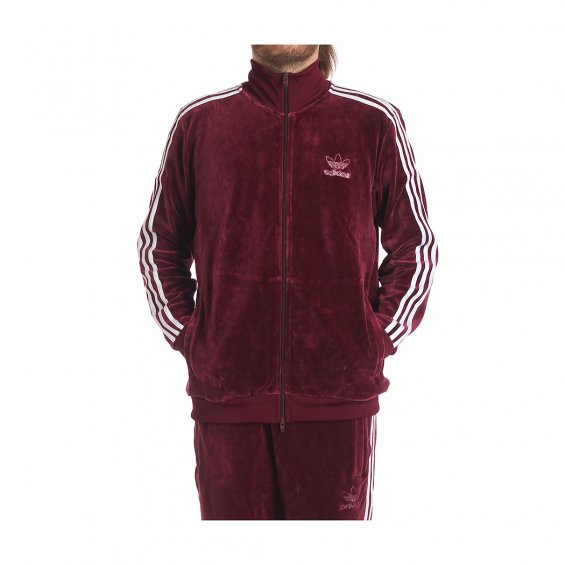 more photos bf479 3aec5 Adidas Originals Velour BB Track Top, Maroon  Highlights