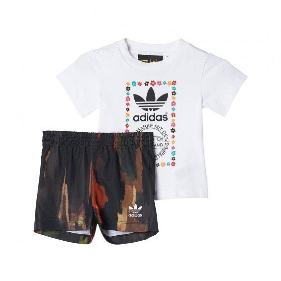 adidas Originals Graphic Tee & Shorts Set (Baby Girls | Kids