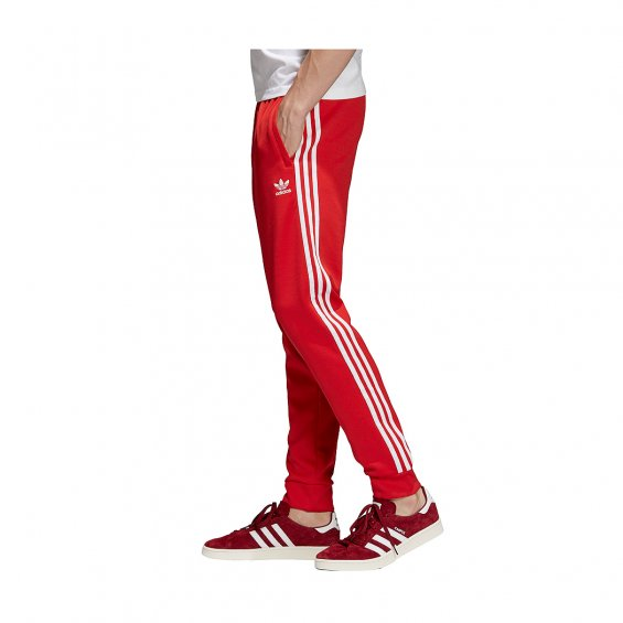 Adidas Originals SST Track Pants, Red