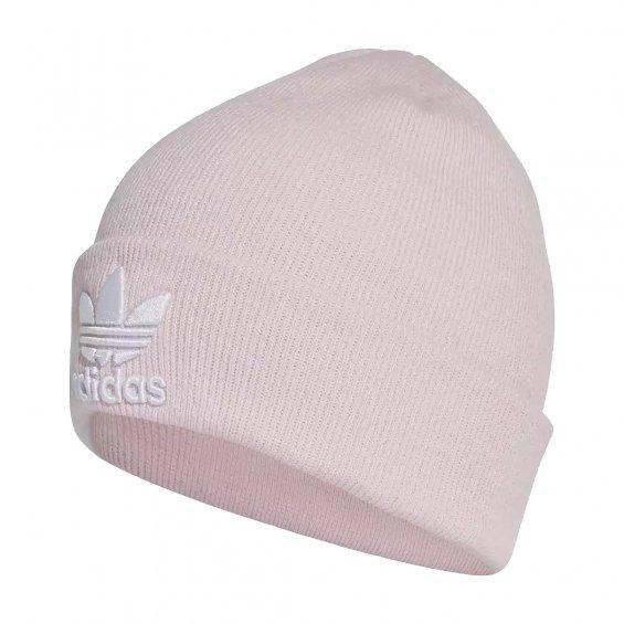 6183e107d Adidas Originals Trefoil Beanie, Clear Pink