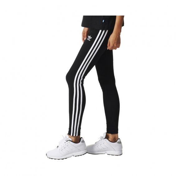 Adidas W 3-Stripes Leggings, Black White