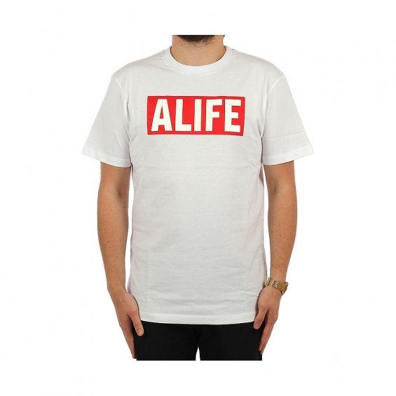 ALIFE Basic Stuck Up Tee, White