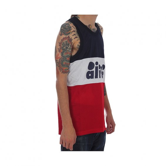 ALIFE Bubble Bloc Tank, Red Navy White