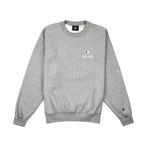Belief Classic Champion Crewneck, Oxford Grey