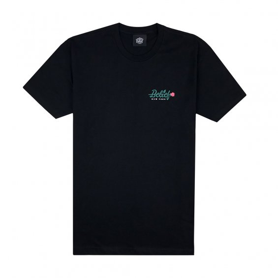 Belief Rose Tee, Black