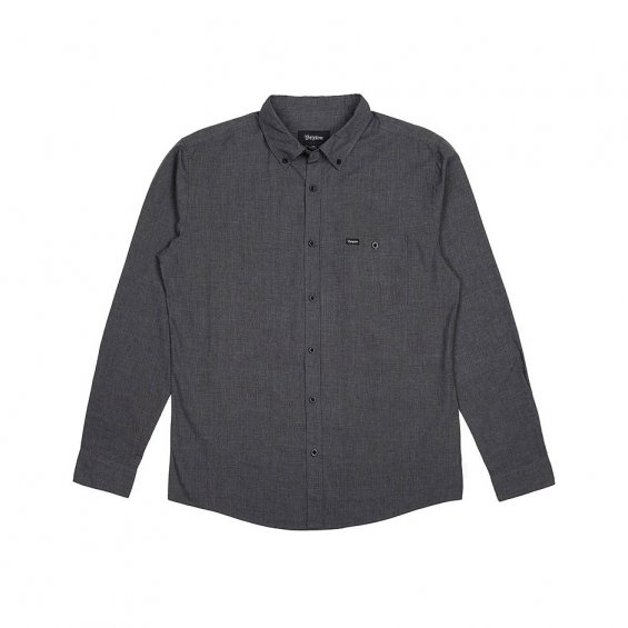 Brixton Central LS Woven Shirt, Heather Black