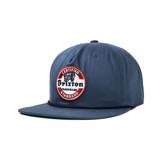 Brixton Soto Snapback, Washed Navy