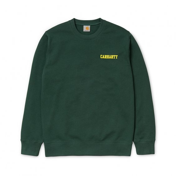 Carhartt College Script Sweat, Conifer