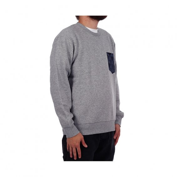 Carhartt Eaton Pocket Sweat, Heather Grey Jet Pocket