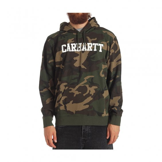 Carhartt Hooded College Sweat, Camo Laurel