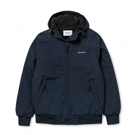 Carhartt Hooded Sail Jacket, Dark Navy White