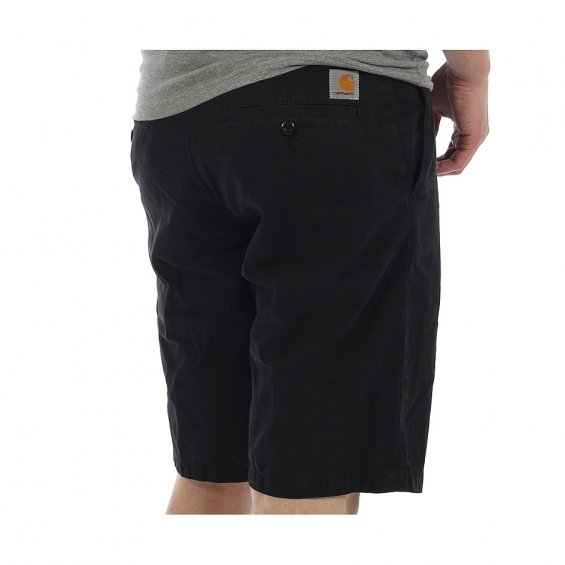 Carhartt Johnson Short, Black Garment Dyed