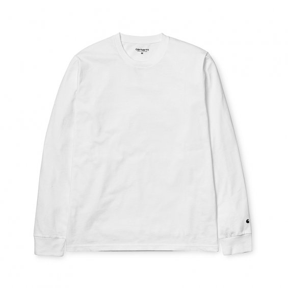 Carhartt LS Base T-shirt, White Black