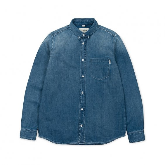 Carhartt LS Civil Shirt, Blue Fidelity Washed