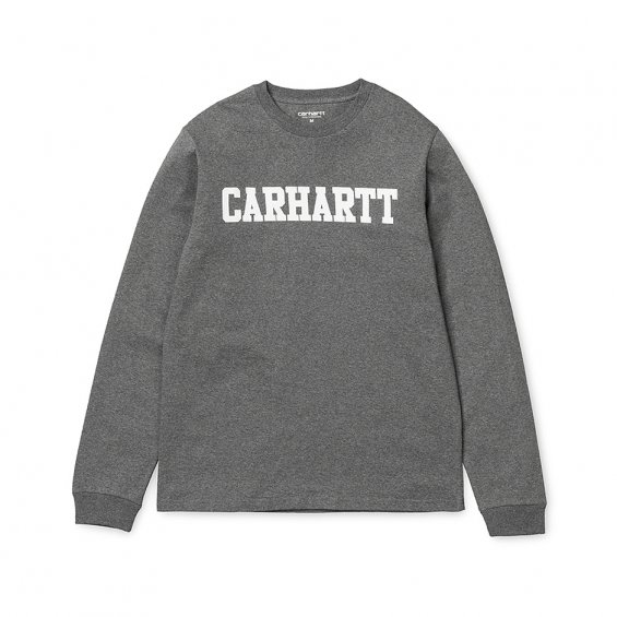 Carhartt LS College T-shirt, Dark Grey Hea
