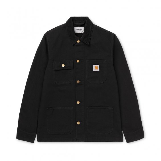 Carhartt Michigan Coat, Black Rinsed