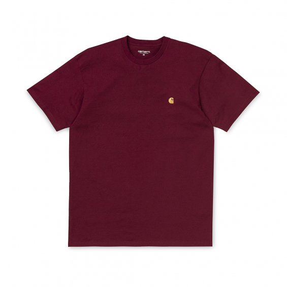 Carhartt SS Chase T-Shirt, Cranberry Gold