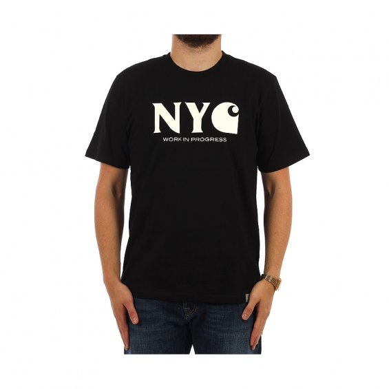 Carhartt SS New York City T-shirt, Black White