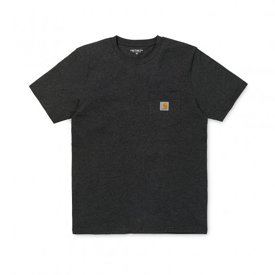 Carhartt SS Pocket T-Shirt, Black Heather