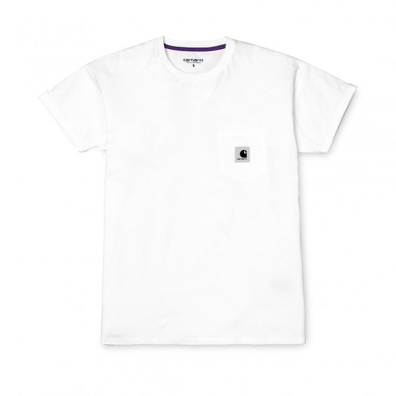 Carhartt W SS Carrie Pocket T-Shirt, White Frosted Viola