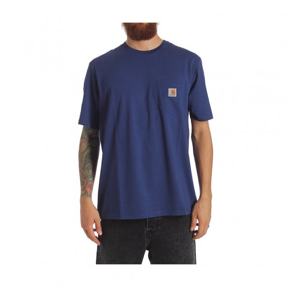 Carhartt SS Pocket T-Shirt, Metro Blue