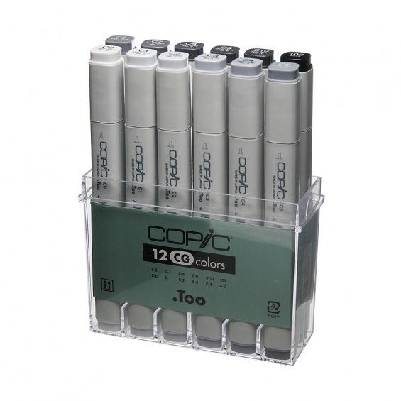 Copic Marker 12 Set, Cool Grey
