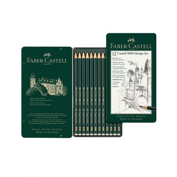 Faber-Castell 9000 Design 12-Set
