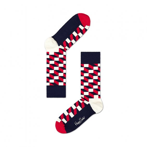 Happy Socks Filled Optic, Red Navy