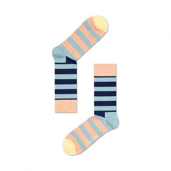 Happy Socks Stripe, Light Blue Navy