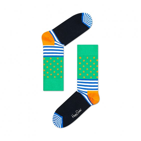Happy Socks Stripes And Dots, Green Black