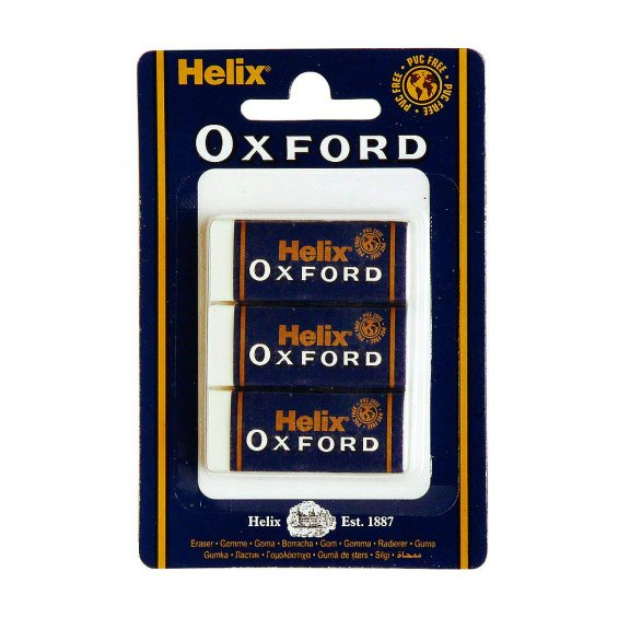 Helix Small Sleeved Erasers 3-P