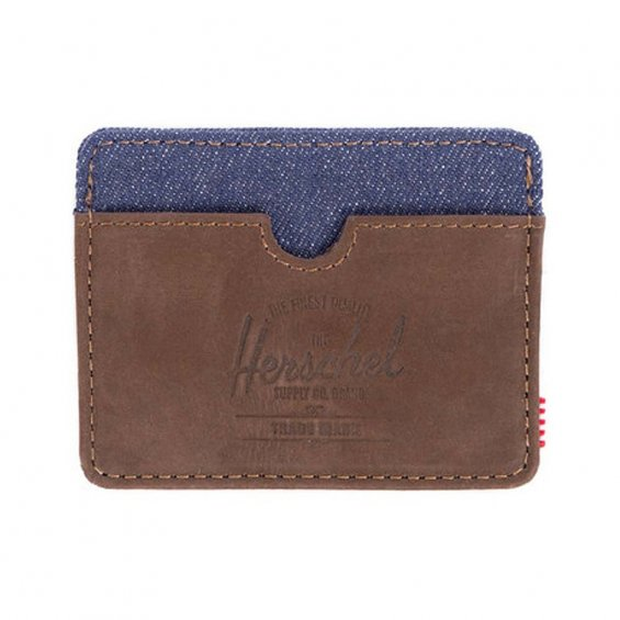 Herschel Supply Charlie, Nubuck Indigo Leather