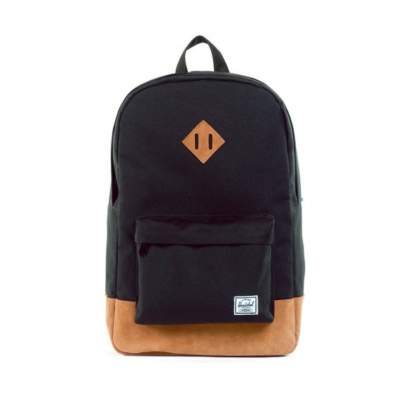 Herschel Supply Heritage Backpack, Black Hairy Suede