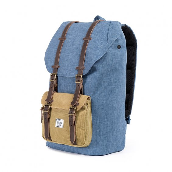 Herschel Supply Little America Ranch, Navy Crosshatch Straw